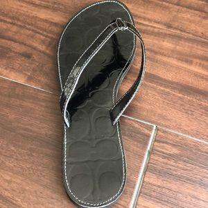 Coach Shoes - Coach black flip flops